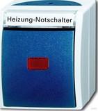 Busch-Jaeger Heiz. Notschalter AP, mit Namensschild 2601/6 SKWNH-53