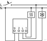 Busch-Jaeger Raumtemp. regler-Einsatz mit Zeitsteuerung 1098 U-101