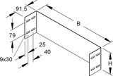 Niedax Abschlußstück WSAS 150.200 S
