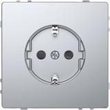 Merten SCHUKO-Steckdose Edelstahl mit Steckklemmen MEG2300-6036