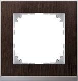 Merten Decor-Rahmen 1-fach Wenge/aluminium MEG4010-3671