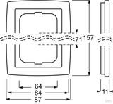 Busch-J. Rahmen 2f. dav/sws UP 1722-84, cremeweiß (ws) RS/U 2.1