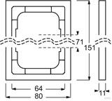 Busch-Jaeger Rahmen 2-fach future linear 1722-184K