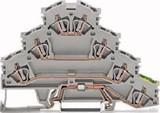 WAGO Vierstock-Reihenklemme L1-L2-L3-PE,für TS35 281-530