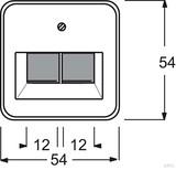 Busch-Jaeger Zentralscheibe cremeweiß (ws) für UAE-Anschlussdo. 2-fach 1803-02-212
