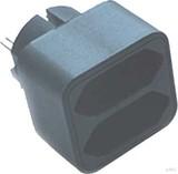 E+P Elektrik Doppelstecker schwarz EA22