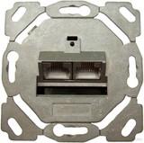Setec Anschlussdose Kat6 design 2xRJ45,EK/0-D,vk TN-6000TXD EK/0 vk