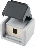 Telegärtner AP-Gehäu. IP44,75x86x58,gr für 1xAMJ-Modul H02000A0069