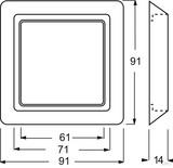 Busch-Jaeger Abdeckrahmen 1fach alusilb. 2101-33
