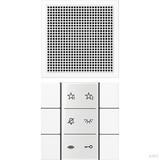 Jung Audio-Innenstation mit Beschriftungsfeld SI AI LS 6 WW