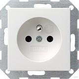 Gira 048503 Steckdose Erdstift mit erhöhtem Berührungsschutz System 55 Reinweiß glänzend