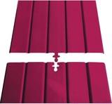Fränkische Kabelabdeck-Platte mit Einhängung FPL 180/1000 rot mit E.