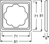 Busch-Jaeger Rahmen 1-fach elfenbein ws 1721-72