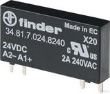 Finder Steck-/Print-Relais E:24VDC,A:2A/230VAC 34.81.7.024.8240
