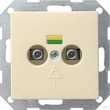 Gira 040501 Potentialausgleich 2fach System 55 Cremeweiß glänzend