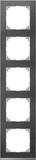 Merten Decor-Rahmen 5-fach Schiefer/aluminium MEG4050-3669