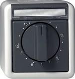 Gira 032030 Zeitschalter 15 Minuten wassergeschützt Aufputz Grau