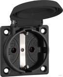 ABL Sursum Schuko-Einbausteckdose Thermoplast IP54 schwarz 1661000 (100 Stück)