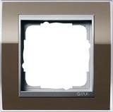 Gira 0211766 Abdeckrahmen 1fach für Farbe Alu Event Klar Braun