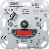 Jung NV-Drehdimmer 20 bis 500W mit Druckschalter 225 NVDE