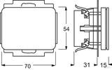 Busch-Jaeger Steckdosen-Einsatz Titan mit Klappdeckel 20 EUK-266