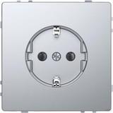 Merten SCHUKO-Steckdose Edelstahl mit Steckklemmen MEG2301-6036