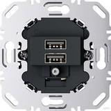 Berker USB Ladesteckdose 230V 2fach 3A anthrazit 260205