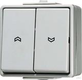 Jung Jalousie-Wippschalter cremeweiß (ws) 10AX 250V Tas. 1-polig 639 VW