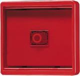 Jung Abdeckung Glasscheibe rot mit Lichtfenster 661 WGL R