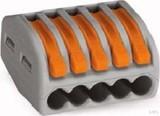 WAGO Verbindungsklemme 5x0,8-4qmm grau 222-415 (40 Stück)