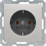 Berker SCHUKO-Steckdose aluminium lack 47436084