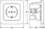 Busch-Jaeger Steckdosen-Einsatz alpinweiß (aws) mit Steckanschluss 20 EUJ-214