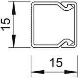 OBO Bettermann Wand+Deckenkanal mit Obert. 15x15mm,PVC WDK15015CW (2 Meter)
