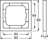 Busch-Jaeger Rahmen 1-fach future linear 1721-184K