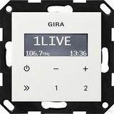 Gira 228403 UP Radio RDS ohne Lautsprecher System 55 Reinweiß