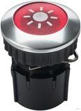Grothe Klingeltaster rund 14,6mm Knopf rot, Hülse aluminium PROTACT 101 LED
