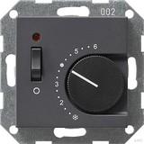 Gira 039228 Raumtemperaturregler 230 V mit Öffner+Schalter System 55 Anthrazit