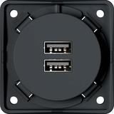 Berker USB-Ladesteckdose anth-mt 2fach 3A 926102505