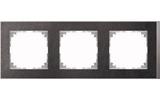 Merten Decor-Rahmen 3-fach Schiefer/aluminium MEG4030-3669