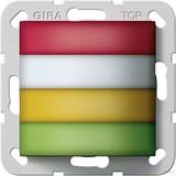 Gira 594400 Zimmersignalleuchte Rot,Weiß,Gelb,Grün Rufsystem 834 Plus