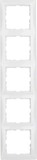 Berker Rahmen 5-fach polarweiß/glänzend 10158989