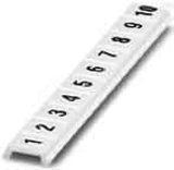 Phoenix Contact Zackband B=5mm 1-10 längs cremeweiß (ws) ZBF 5,lgs:1-10