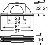 Busch-Jaeger Leitungseinführung Verbindungsstück 2138 W-53