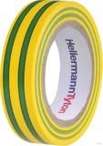 HellermannTyton PVC Isolierband grün-gelb Flex 15-GNYE15x10m