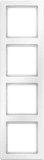Berker Rahmen polarweiss, samt 4-fach 10146089
