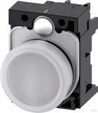 Siemens Leuchtmelder 22mm,rund,weiß,Linse 3SU1106-6AA60-1AA0