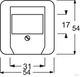 Busch-Jaeger Zentralscheibe alpinweiß (aws) für TAE-Einsatz 2539-214