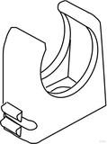 Kleinhuis RO-Clip-Rohrschelle lichtgrau M16 796.090 (100 Stück)
