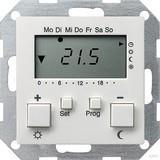 Gira 237003 Raumtemperaturregler 230 V mit Uhr System 55 Reinweiß