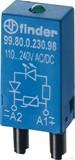 Finder LED grün + Varis 6.. 24VACDC für Fas. 94.82/83/84 99.80.0.024.98